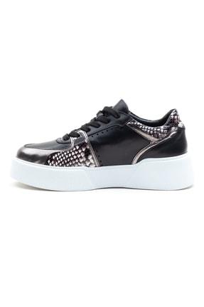 GRADA Kadın  Siyah Hakiki Deri Kalın Taban  Sneaker Ayakkabı 3