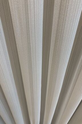 perfect curtain Pilesiz Çizgili Tül Düz Dikiş 2