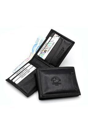 Westpolo Hakiki Deri Siyah Gizli Kartlık Bölmeli Erkek Cüzdan Try595 0
