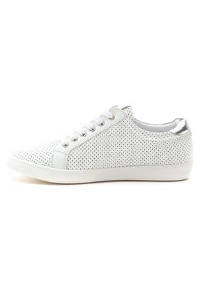 GRADA Kadın Beyaz Mikro Delikli Hakiki Deri Günlük Sneaker Ayakkabı 3
