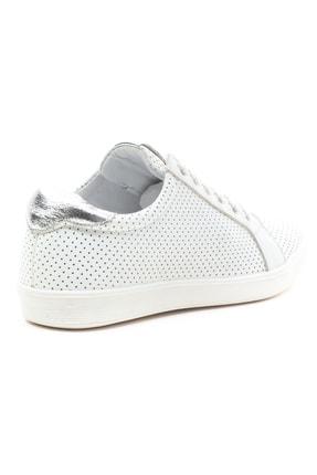 GRADA Kadın Beyaz Mikro Delikli Hakiki Deri Günlük Sneaker Ayakkabı 4