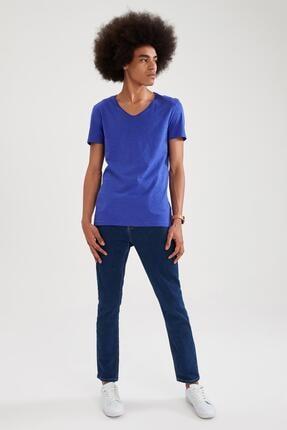Defacto Slim Fit V Yaka Basic Kısa Kollu Tişört 1