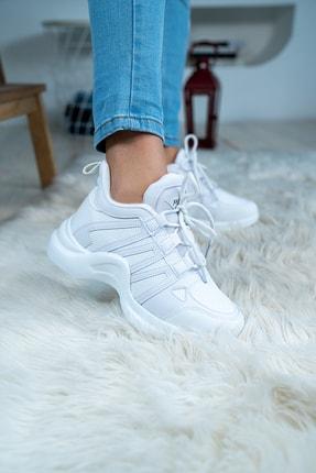 Bartrobel Kadın Günlük Spor Sneaker Ayakkabı Beyaz 0