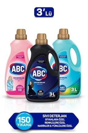 ABC Özel Sıvı Deterjan Bakım Seti 3 lt Siyahlar + Renkliler + Narinler 3'lü Set 1