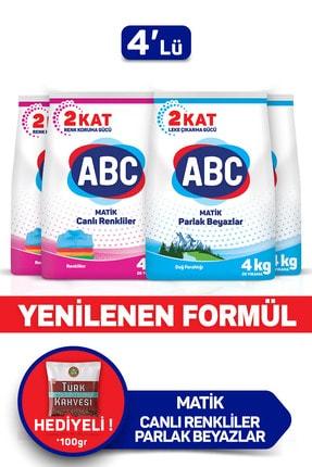 ABC Matik Canlı Renkler + Dağ Ferahlığı 4 Kg 4'lü Set 1