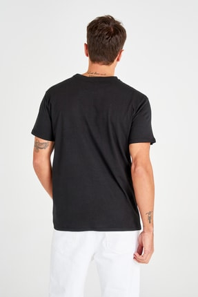 TRENDYOL MAN Siyah Erkek Regular Fit T-Shirt TMNSS20TS0992 3