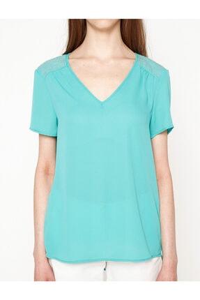 Koton Kadın Yeşil Bluz 7YAK63743EW 2
