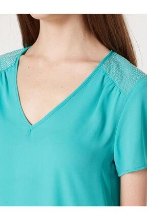 Koton Kadın Yeşil Bluz 7YAK63743EW 4