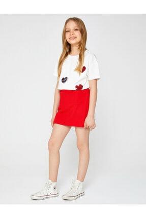 Koton Kız Çocuk Kırmızı Mini Etek 0