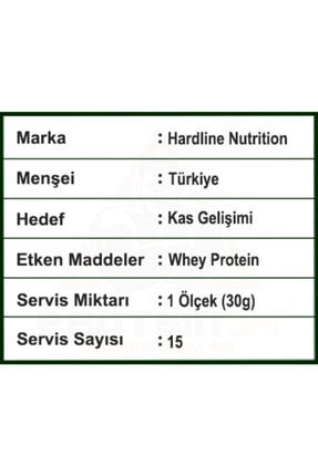 Hardline Whey 3matrix 454 gr Çilekli Protein Tozu 3