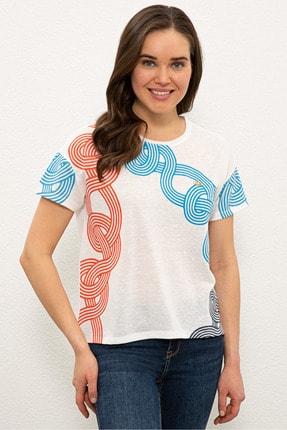 US Polo Assn Mavı Kadın T-Shirt 0