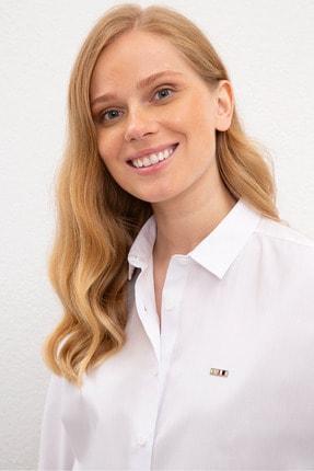 US Polo Assn Beyaz Kadın Gömlek 1