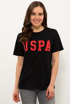 US Polo Assn Sıyah Kadın T-Shirt 0