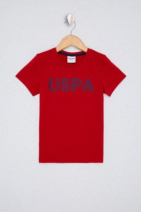 US Polo Assn Kırmızı Erkek Çocuk T-Shirt 0
