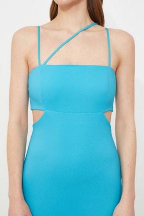 TRENDYOLMİLLA Mavi Askı Detaylı Abiye & Mezuniyet Elbisesi TPRSS21AE0052 4