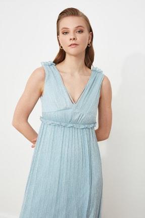 TRENDYOLMİLLA Gri Bel Detaylı Abiye & Mezuniyet Elbisesi TPRSS21AE0207 1