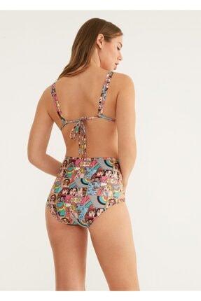 Suwen Yüksek Bel Yanı Biyeli Desenli Bikini Alt 2