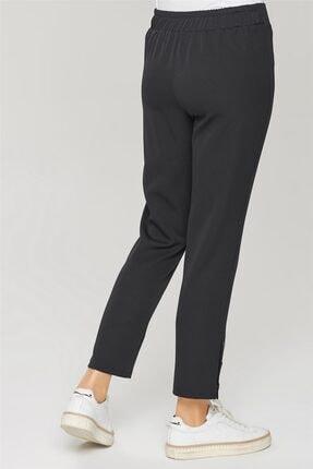 Armine Kadın Siyah Çıtçıt Detaylı Skinny Pantolon 21y2026 3