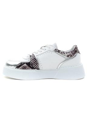GRADA Kadın Beyaz Hakiki Deri Kalın Taban Sneaker Ayakkabı 3