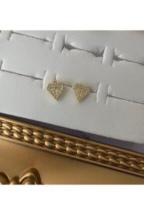 bvjewel 925 Ayar Gümüş Taşlı Çivili Tasarım Küpe 0