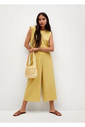 Mango Kadın Hardal Rengi Bluz -- 1