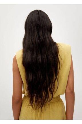 Mango Kadın Hardal Rengi Bluz -- 3