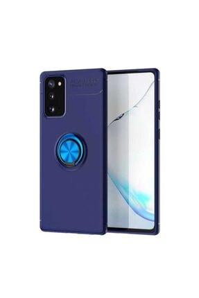 Samsung S20 Fe Yüzüklü Standlı Nezih Case Silikon Kılıf (soft Tasarım) Mavi 0