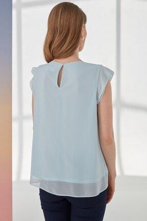 Journey Kadın Mavi  Kısa Kol Bluz 1