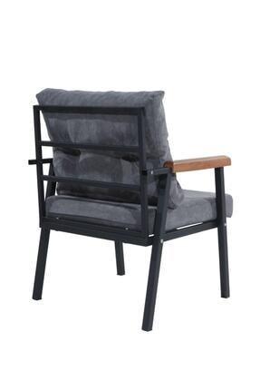Mobilyamspot Koyu Gri Bahçe Sandalyesi Ve Balkon Koltuk Takımı - Patentli Ürün 2 2 1 1 Bahçe Koltuk Balkon Seti 1 3