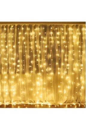 GÖBEKLİTEPE TİCARET Alitech 2,5x2,5 Günışığı Sarı Renk Prizli Perde Led Işık Dekoratif Saçak Led 1