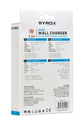Syrox (Yeni) J47 Micro Usb Girişli 2.6 Amper Hızlı Şarj Aleti 3