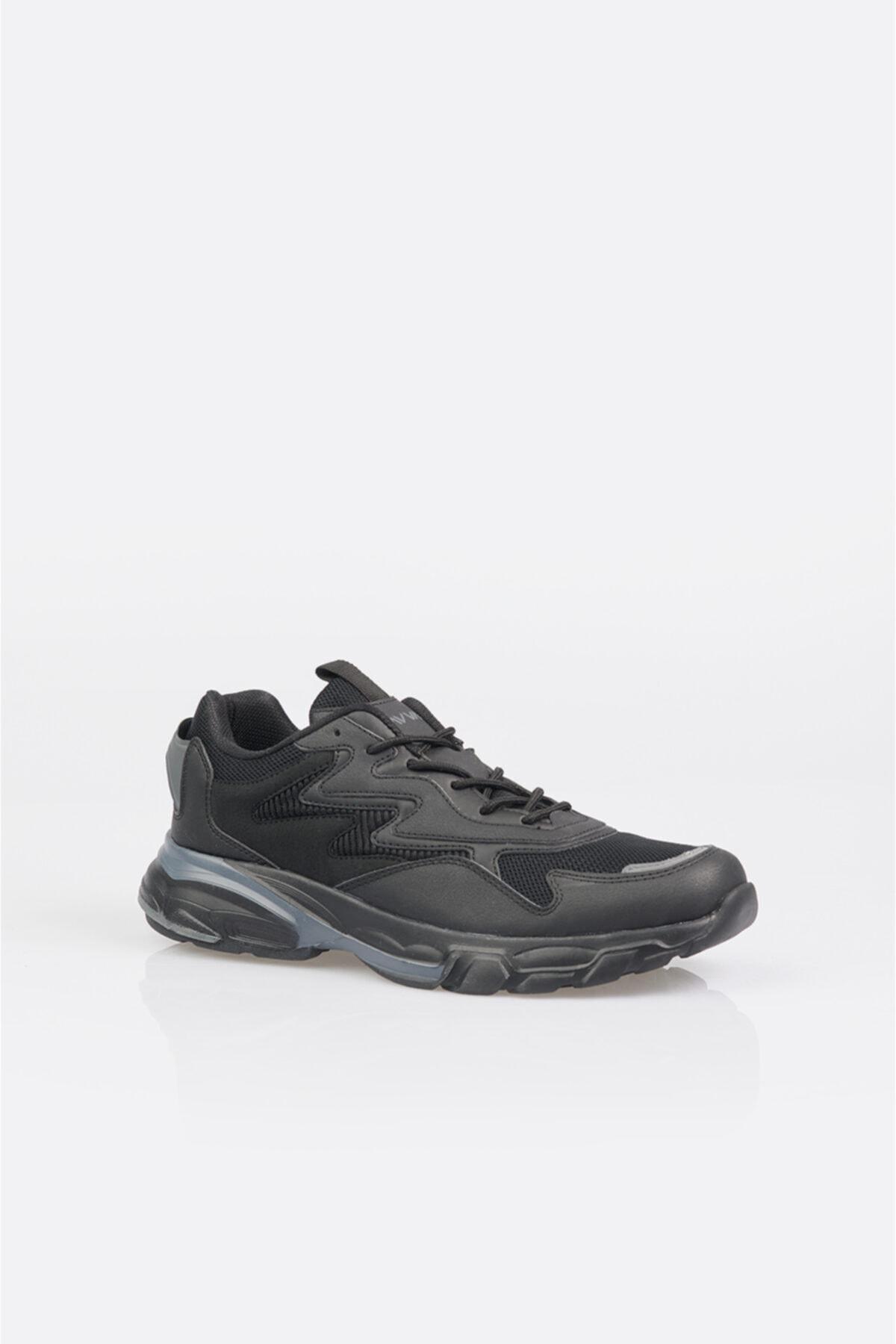 Erkek Siyah Garnili Spor Ayakkabı A11y8011