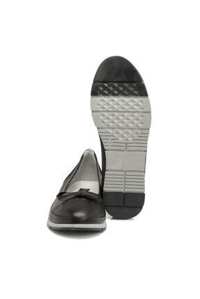 Tergan Siyah Deri Kadın Ayakkabı 64292a23 1