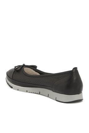 Tergan Siyah Deri Kadın Ayakkabı 64292a23 2