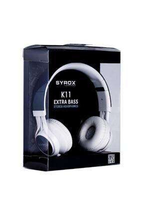 Syrox K11 Stereo Kablolu Kulaküstü Kulaklık 0