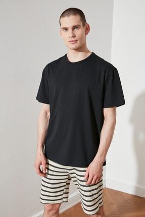 TRENDYOL MAN Siyah Erkek Geniş Kesim T-Shirt TMNSS20TS0947 3