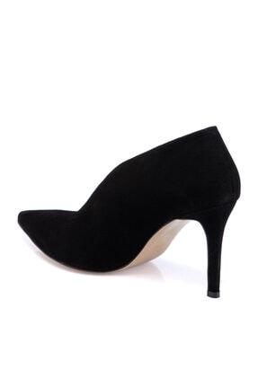 Tergan Kadın Siyah Süet Deri Ayakkabı 65658a01 1