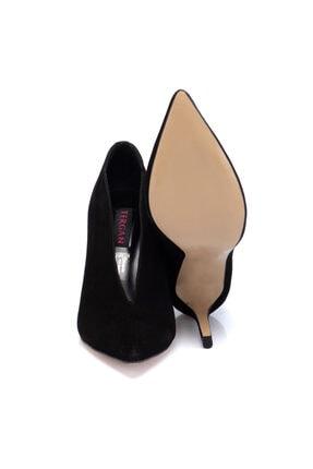 Tergan Kadın Siyah Süet Deri Ayakkabı 65658a01 3