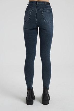 CROSS JEANS Judy Koyu Taş Indigo Yüksek Bel Skinny Fit Jean Pantolon 3