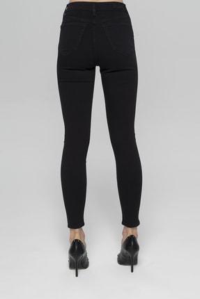 CROSS JEANS Judy Siyah Yüksek Bel Paçası Fermuarlı Skinny Fit Jean Pantolon 2