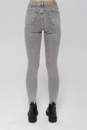 CROSS JEANS Judy Açık Gri Yüksek Bel Skinny Fit Jean Pantolon 2