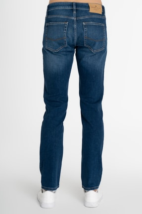 CROSS JEANS Matthew Orta Mavi Slim Straight Normal Bel Jean Pantolon 3