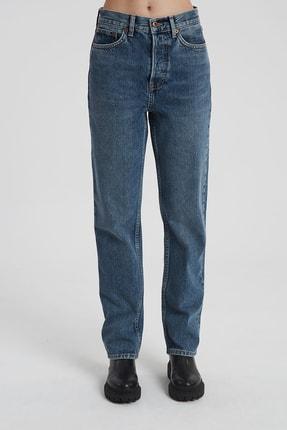 CROSS JEANS Dıana Koyu Taş Indigo Yüksel Bel Dad Straight Fit Pantolon 1