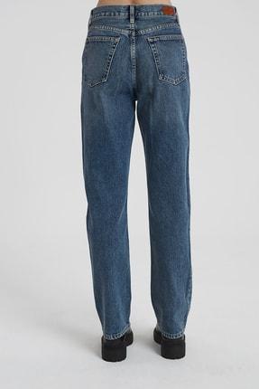 CROSS JEANS Dıana Koyu Taş Indigo Yüksel Bel Dad Straight Fit Pantolon 3