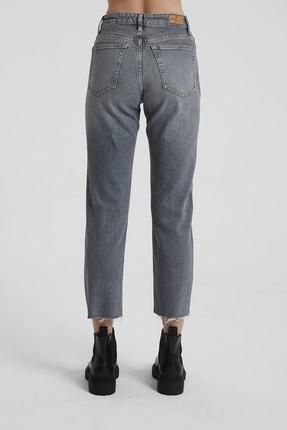 CROSS JEANS Elıza Cropped Gri Paçası Kesikli Straight Cropped Fit Jean Pantolon 3