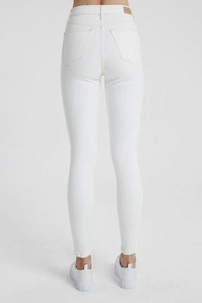 CROSS JEANS Judy Beyaz Yüksek Bel Kesikli Skinny Fit Jean Pantolon 3