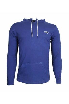 MUSCLECLOTH Training Kapüşonlu Uzun Kollu T-shirt Indigo Mavi - Xx-large 0