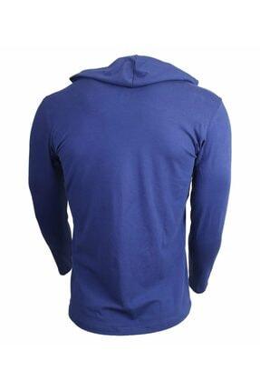 MUSCLECLOTH Training Kapüşonlu Uzun Kollu T-shirt Indigo Mavi - Xx-large 2