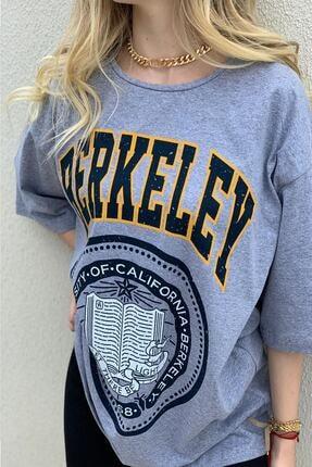 twentyone Kadın Oversize Berkeley Baskılı Tşhirt 1
