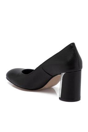 Tergan Siyah Deri Kadın Ayakkabı 65657a23 1